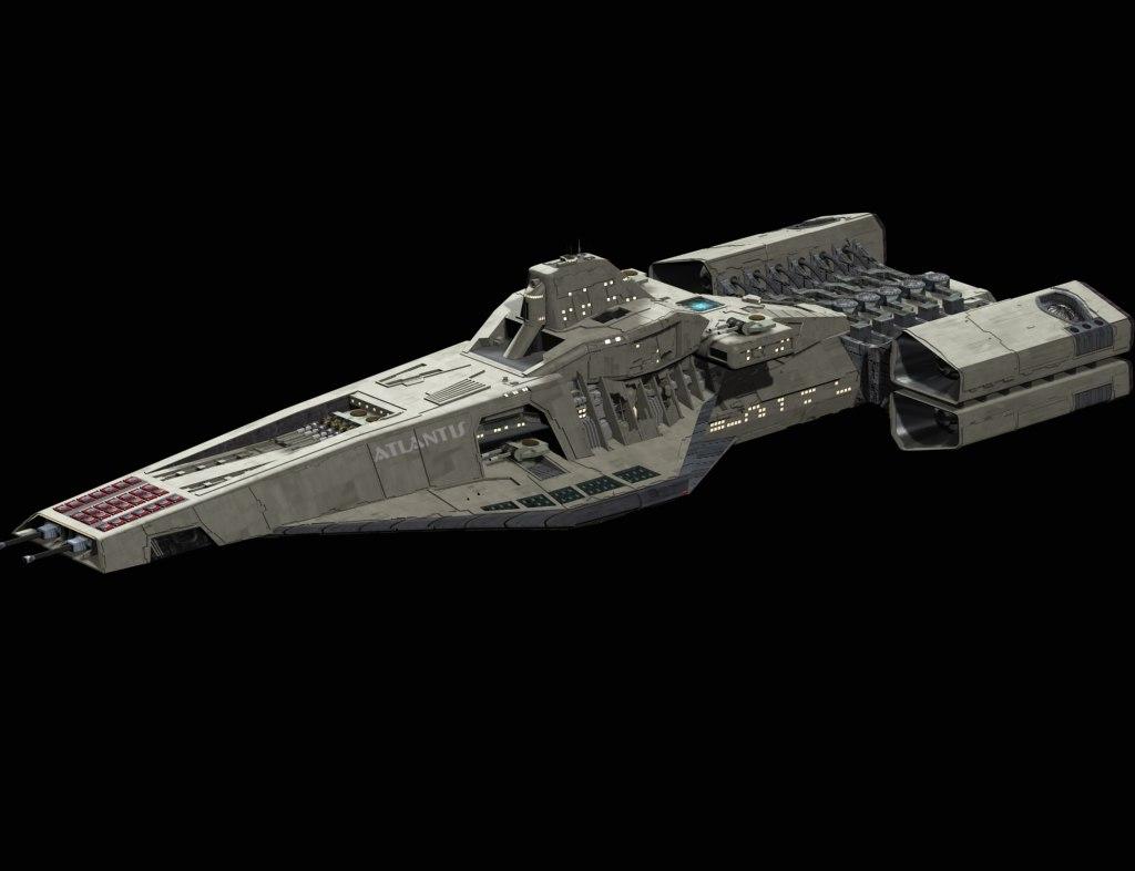 art atlantis space ship 3ds