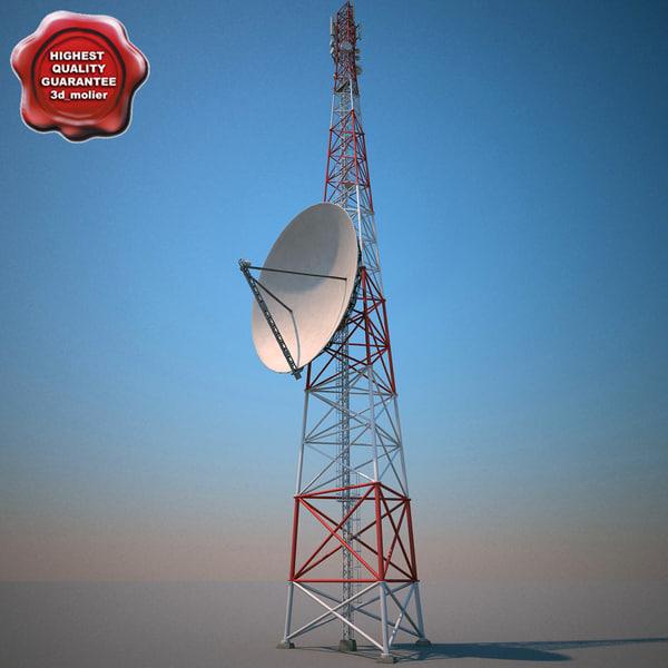 3d 3ds telecommunication tower v6