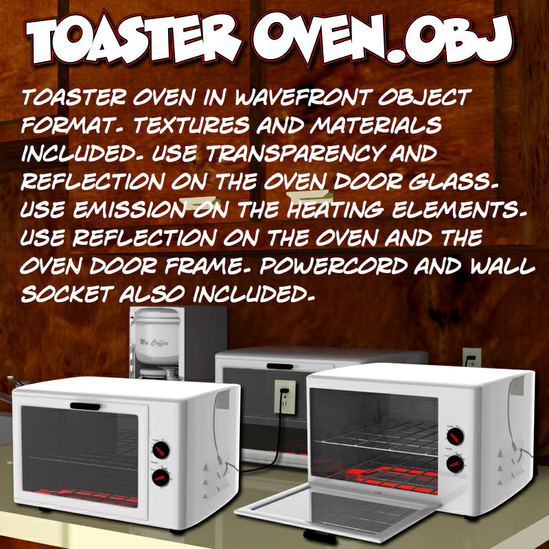 3d toasteroven toaster oven