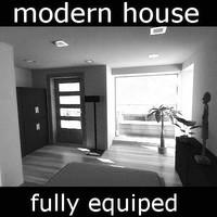 3ds modern house -