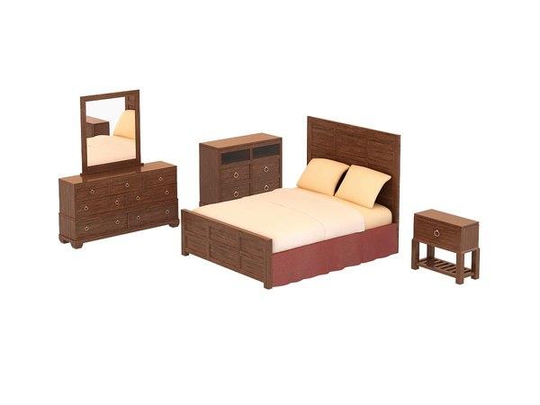 3ds max bedroom set - tarim
