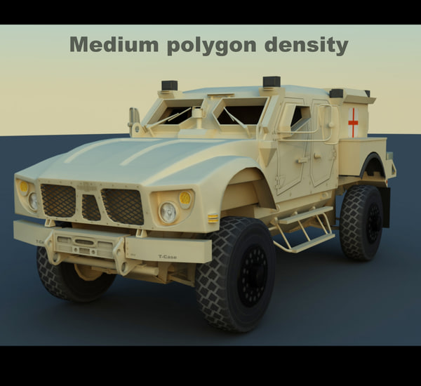 3d oshkosh m-atv military ambulance