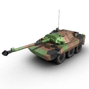 amx-10rc tank destroyer 3d model