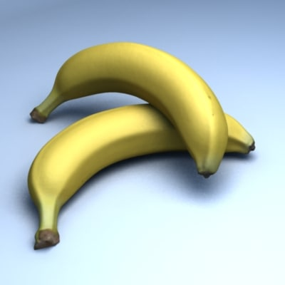 3d model of banana scan