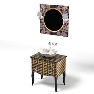 bathroom furniture retro 3d max