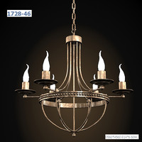 blitz antique country classic chandelier ceiling lamp hanging iron metal bronze candle