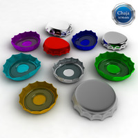 bottle caps 3d model