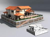 villa rich 3d model