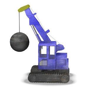 demolition crane 3d lwo