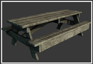 classic wooden picnic table max