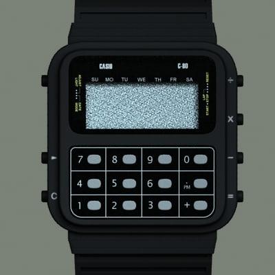 casio c-80 3d x