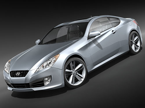 3d hyundai genesis coupe 2009 model