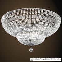 james r moder 38308 prestige classic crystal wide ceiling lamp chandelier swarowski spectra glass