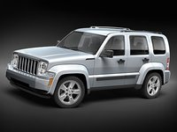3d model jeep liberty cherokee suv