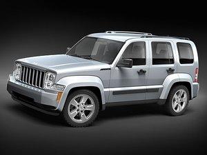 3d model jeep liberty cherokee suv