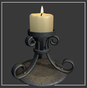 max medievil candle holder