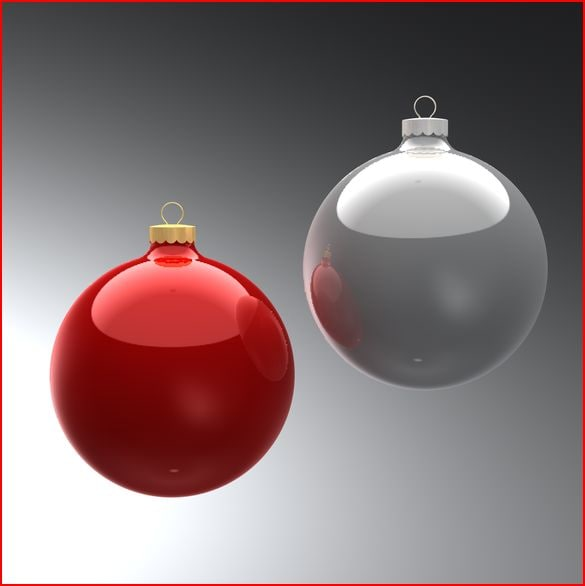 3d model christmas ornaments