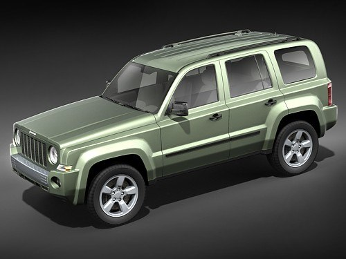 3d jeep patriot suv midpoly model