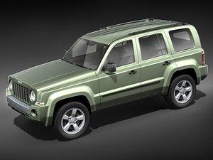 3d jeep patriot suv midpoly model