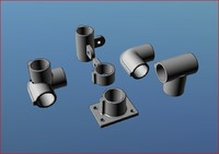 tube fittings pipe angles 3d model