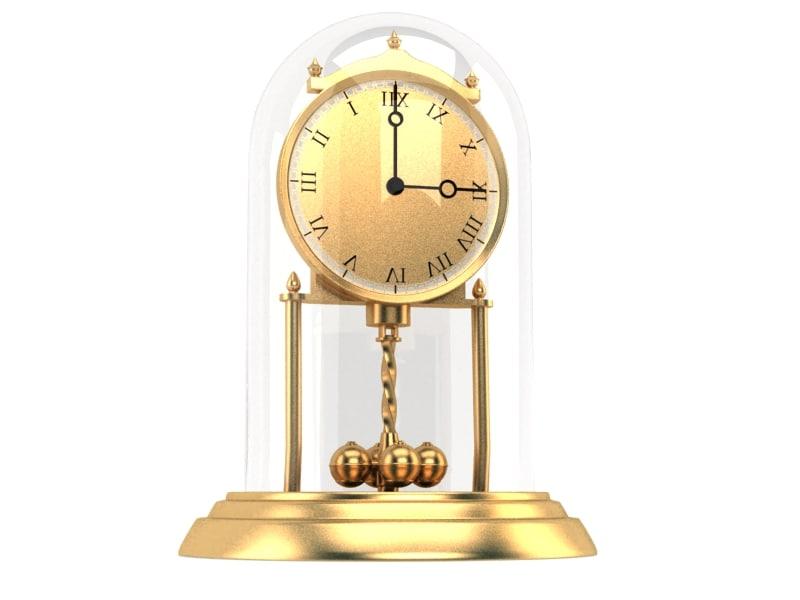3d model clock old classic