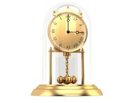 Classic old golden clock 2 - vray materials