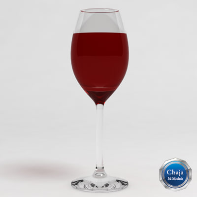 wine glass 3d model
