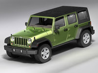 3d 3ds wrangler unlimited jeep