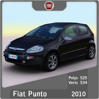 fiat punto 2010 3d model