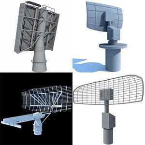 4 radars 3d max