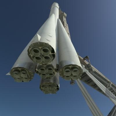3d rocket statue