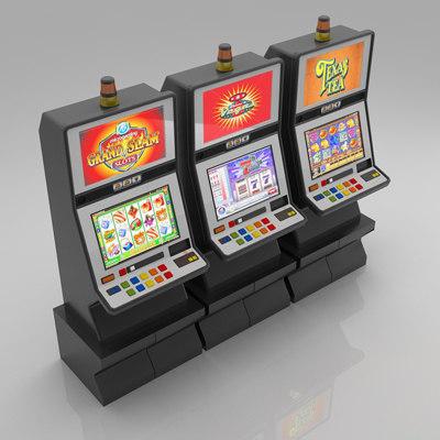 3 slot machines 3d max