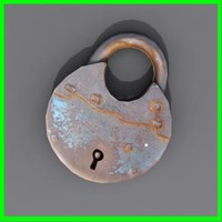 3d model of lock