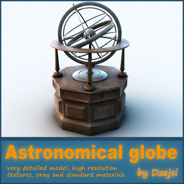 3d model astronomical globe
