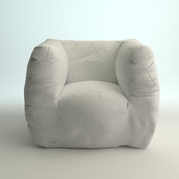 3ds modern italian armchair