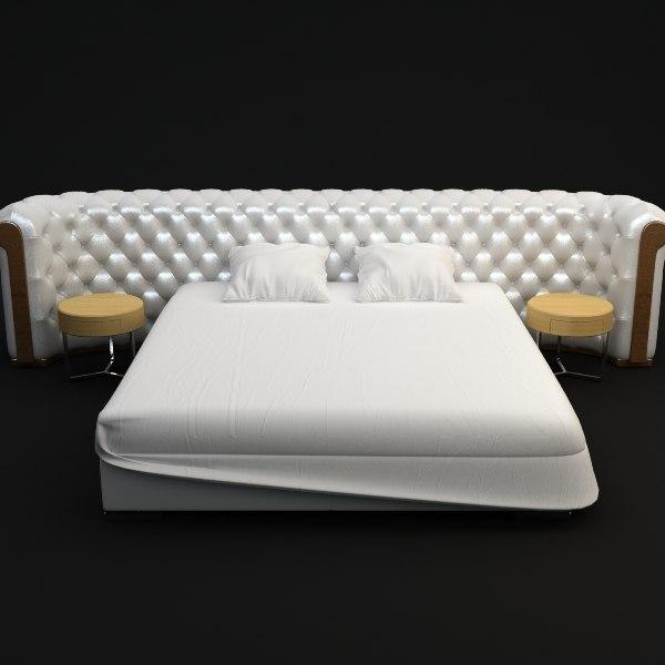 bed details interior 3d max
