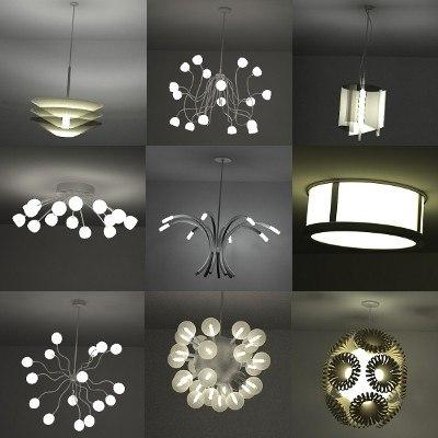3d model lights ceiling