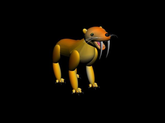 free max mode sabre-toothed tiger
