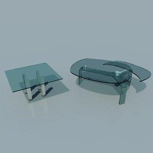 glas tables obj