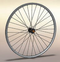 3d wheel mountain bike model