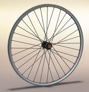 3d wheel mountain bike model
