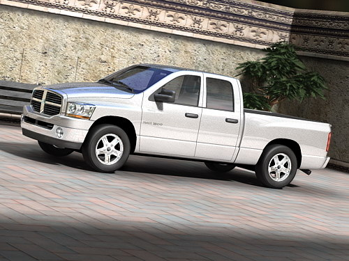 3d model dodge ram crew cab