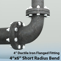 3d 4in short radius reducing model