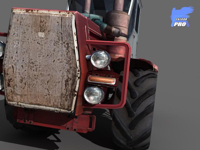 3d model of heavy tractor kirovets k701