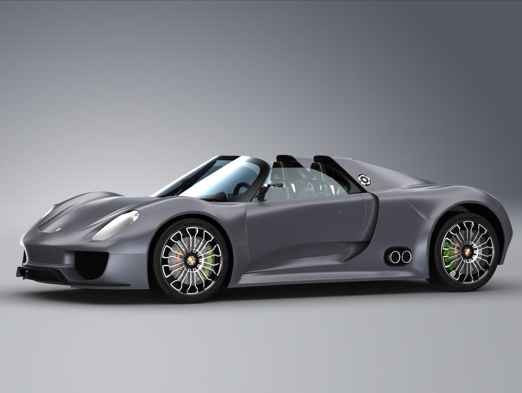 porsche 918 spyder concept 3d model