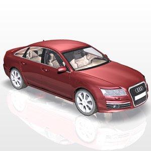 audi a6 car luxury 3ds