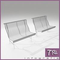 bench catalano 3d max