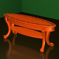 coffee table cherry fr 3d 3ds