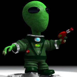 3d cute alien character model