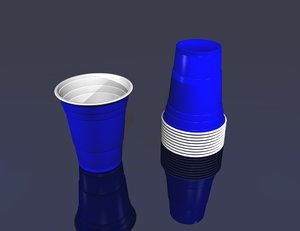plastic party drink cup 3d dxf
